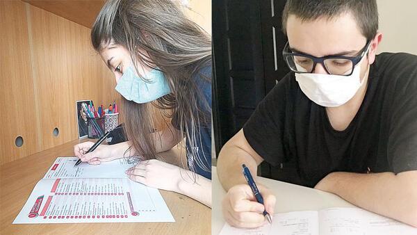 Sınava maskeli prova