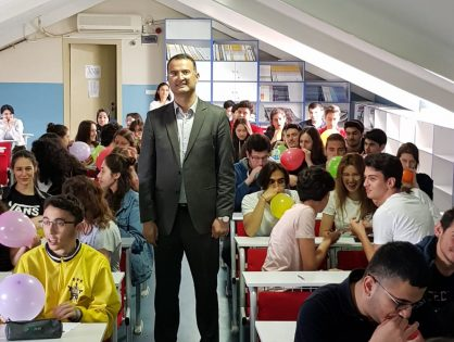 Avcılar Temel Lisemizde öğrencilere sunum ve sınav kaygısı çalışması. 16.05.2019