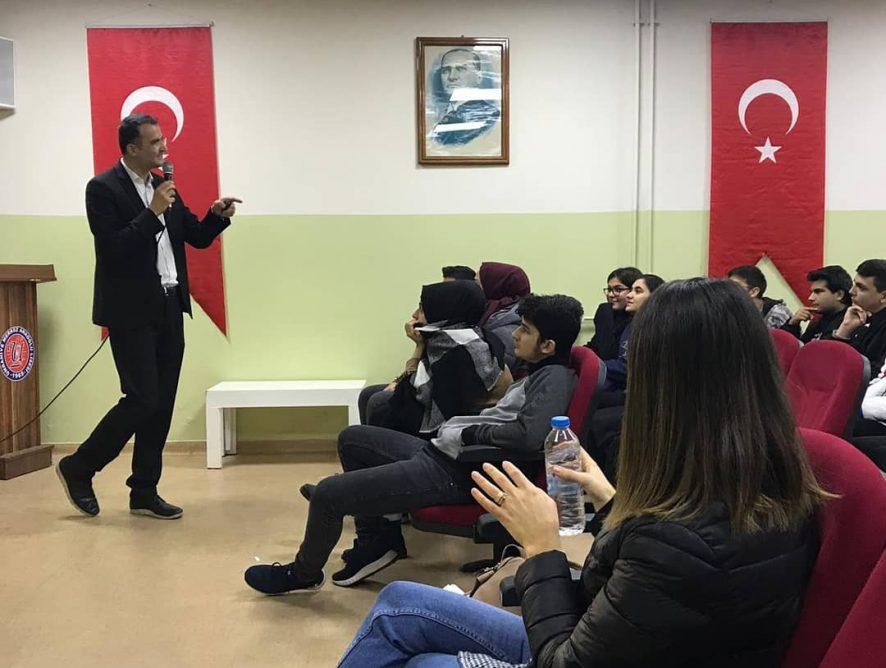 Ümraniye Merkez Anadolu Lisesi 12.sınıf TM grubu öğrencilerine sunumdayım. 12.12.2019