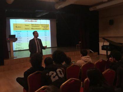 Fen Bilimleri Yakacık Anadolu Lisemizin 12. Sınıf öğrencilerine Sınava Hazırlığın Püf Noktaları konulu sunum yaptım. 17.02.2020