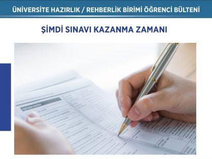 ŞİMDİ SINAVI KAZANMA ZAMANI