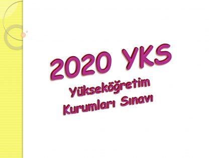 2020 YKS Sınav Sistemi Sunumu